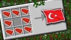 Minecraft'ta Lego İle Türk Bayrağı Yaptık !