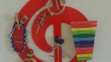 Müzik Görsel Sol Anahtarı 3 Boyutlu Pano Orff Aletleri Duvar Görselleri Aykut Öğretmen