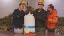 Sıvı Nitrojen ile Sebzeleri Dondurduk (-200 Derece)