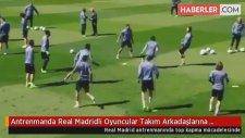 Antrenmanda Real Madridli Oyuncular Takım Arkadaşlarına Acımadı
