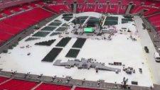 Wembley Stadyumunun, Joshua-Klitchsko Maçına Hazırlanması
