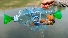 Balık Tutmak İçin Pet Şişelerden Tuzak Hazırlamak