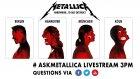 #AskMetallica Livestream Fan Chat | Nov 16th 3pm CET