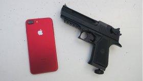 Kırmızı iPhone 7, Mermilere Ne Kadar Dayanıklı?