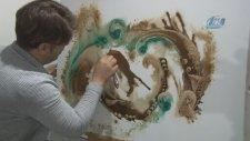 Türk Kahvesi İle Resim Yapan İranlı Ressam