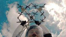 Paraşütle Drone'dan Atlayan Adrenalin Bağımlısı Adam