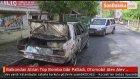 Balkondan Atılan Tüp Bomba Gibi Patladı, Otomobil Alev Alev Yandı
