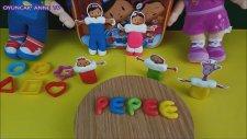 Pepee sırt çantalı oyun hamuru seti  oyun hamurundan Pepe, Şila, Bebee ve Maymuş - Çizgi film izle