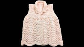 Deniz Dalgası Örgü Modeli Kız Bebek Yeleği Nasıl Yapılır? (Baştan Sona Anlatım) - knitting