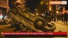 Kazada Takla Atan Otomobil Hurdaya Döndü: 2 Yaralı