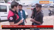 Antalya Polisi Falez Bölgesinde Denetim Yaptı