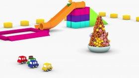Dört Araba Şeker Ağacı Yapıyor  - (4 Cars - Stolen Cookie)