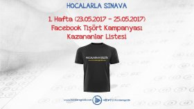 ''Hocalara Geldik'' Tişörtü Kazananlar belirlendi!