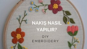 Nakış Nasıl Yapılır? / Dıy Embroidery For Beginners (Eng Sub)