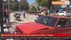 Kavşaktan Dönen Otomobil Kaldırıma Çıktı: 2 Yaralı