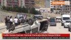 Trafik Kazası Sonrası Yumruk Yumruğa Böyle Kavga Ettiler