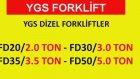 Satılık Forklift 3 Ton 11.500 Dolar Japon Mıtsubıshı Motor Ygs Forklift