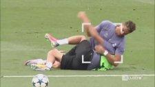Cristiano Ronaldo ile Fabio Coentrao Antrenmanda Güreşti!