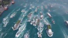 Beşiktaş Donanması İstanbul Boğazı'nda!