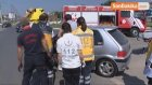 Kaza Yapan Otomobilde Sıkışan Yaşlı Kadını İtfaiye Kurtardı