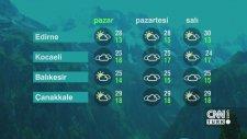 11 Haziran Pazar 2017 - Hava Durumu