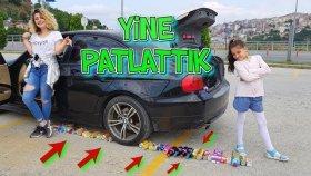 Arabayla Ney Varsa Ezdik Patlattık Mahvolduk !! Crushed Soda Under CAR