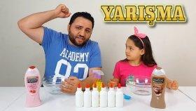 Zorlu Ve Komik Slime Yarışmamız Çilekli VS Çikolatalı Duş Jeli Slime !!