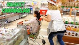 Çatlak Kuzenler Market Alışverişinde !! Canavar Gibiler Her Şeyi Aldılar