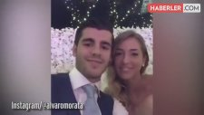 Alvaro Morata, İmza Vasıtasıyla Tanıştığı Kız Arkadaşıyla Evlendi