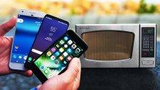 İphone 7 Ve Galaxy S8'in Mikrodalga Fırında Test Edilmesi