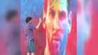 İspanyol Sokak Sanatçısından Messi Graffitisi
