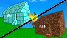 Elmas Ev vs Toprak Ev! (Minecraft)
