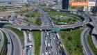 Tem Otoyolu'ndaki Trafik Havadan Görüntülendi