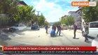 Otomobilin Yola Fırlayan Çocuğa Çarpma Anı Kamerada