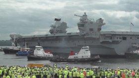 İngiliz Uçak Gemisinin Manevrası