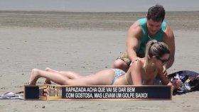 Plajda Krem Sürdüren Hatunun Travesti Çıkması