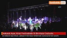 Ankaralı Ayşe, Kiraz Festivalinde 10 Bin Kişiyi Coşturdu