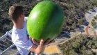 45 Metre Yükseklikten Atılan Meyveleri Yakalamaya Çalışmak