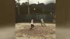 Dani Alves ile Neymar'ın plaj futbolu keyfi