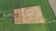 Tarlasına Putin'in Portresini Çizen İtalyan Çiftiçi