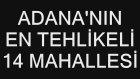 Adana'nın En Tehlikeli 14 Mahallesi