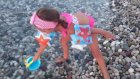 Deniz Plaj Keyfi Denizde Yüzdük  Plajda Kumdan Kaleler Yaptık . Eğlenceli Çocuk Videosu