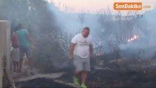 Didim'deki Yangın Yazlıkçıları Korkuttu