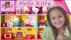 Hello Kitty Ailesi Yeni Evlerinde , Elif  Misafir Ağırlıyor. Mini Doll House Playset