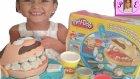 Play Doh dişçi seti kutusu açtık. Biz bu amcaya mario adını verdik.Çok eğlendik