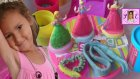 Playdoh Dondurma Dükkanı Ve Sindirella Aurora İçin Oyun Hamurundan Elbise Yaptık.