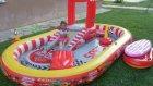 intex araba kaydıraklı oyun havuzu bahçede su doldurma ve ilk oyun,eğlenceli çocuk videosu