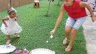 Kaşıkla Yumurta Taşıma Oyunu , Elifin Videosu , Eğlenceli Çocuk Videosu