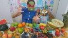 Meyve challenge Elif ve annesi yarışıyor kim daha çok bilecek,Eğlenceli çocuk videosu,Fruit challeng