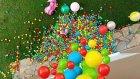 2. kattan 2000 topu bahçeye döktük, eğlenceli çocuk videosu